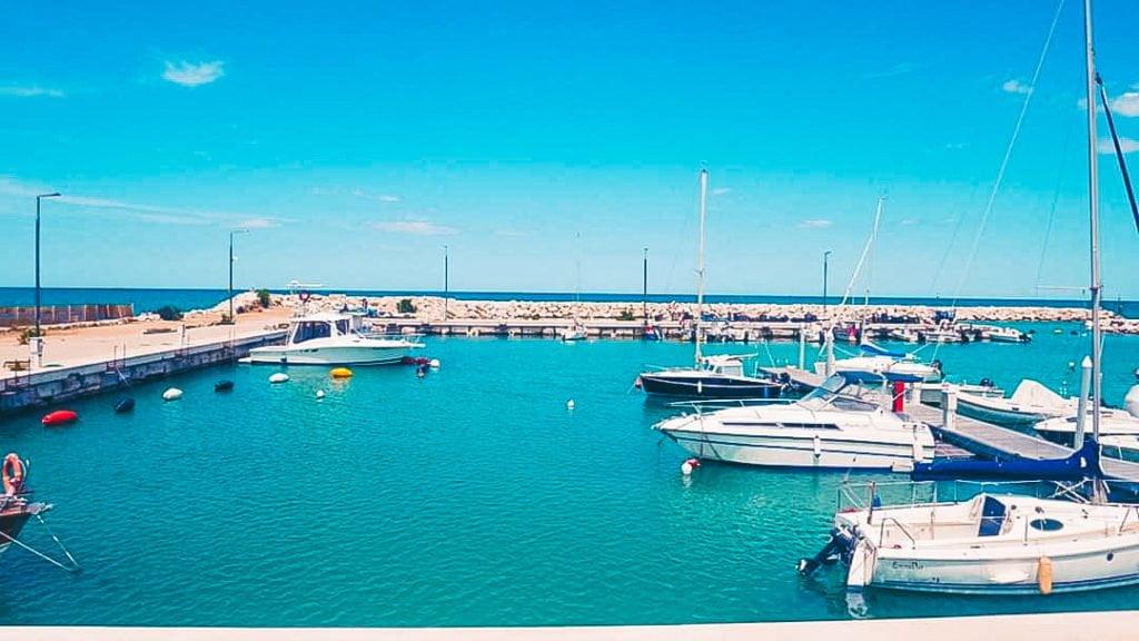 via verde della costa dei trabocchi, porto di San Salvo Marina