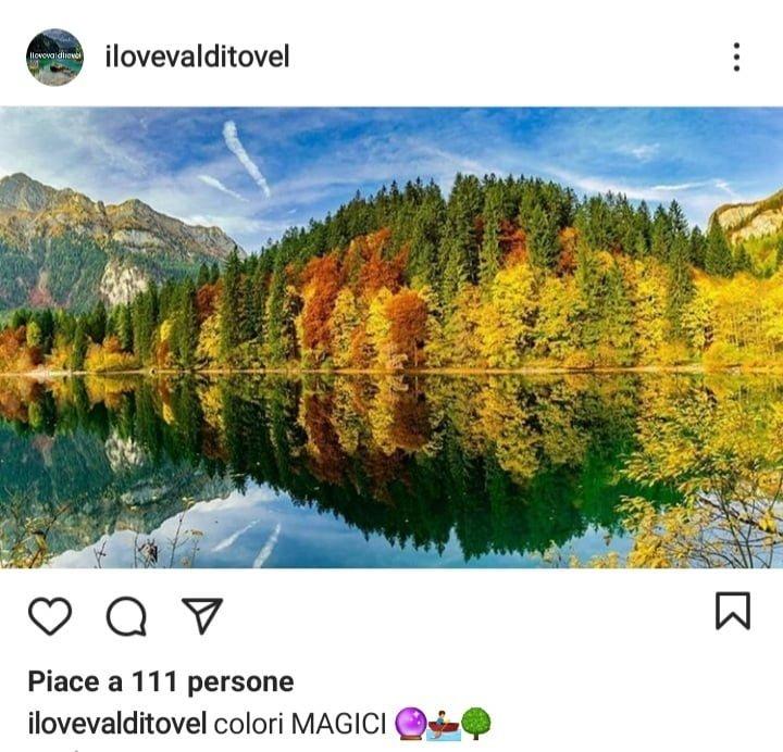 5 posti dove vedere il foliage in Italia, Lago di Tovel