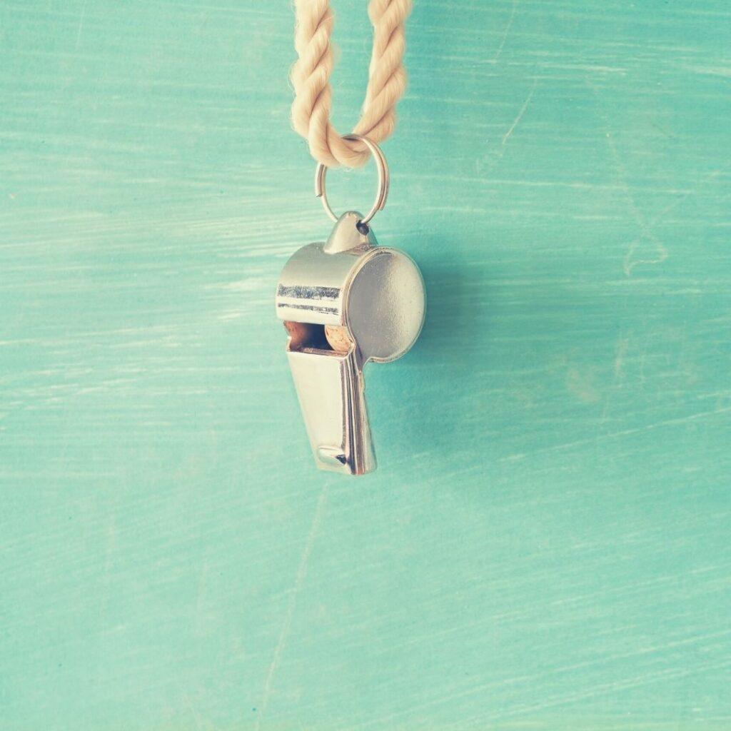 oggetti indispensabili per viaggiare sicura, fischietto