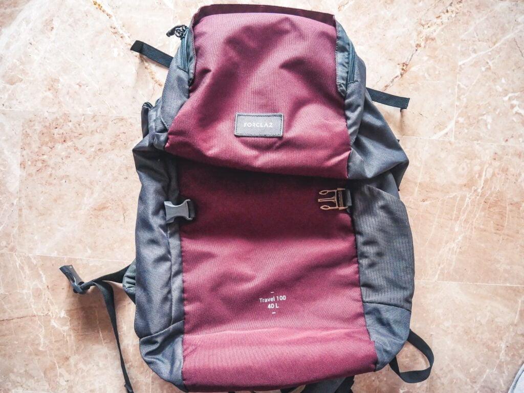 backpack forclaz da 40 litri