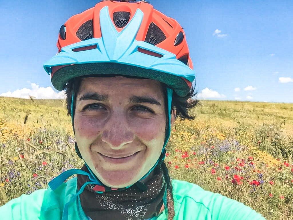 viaggio da sola in bicicletta, Sulla Via Francigena
