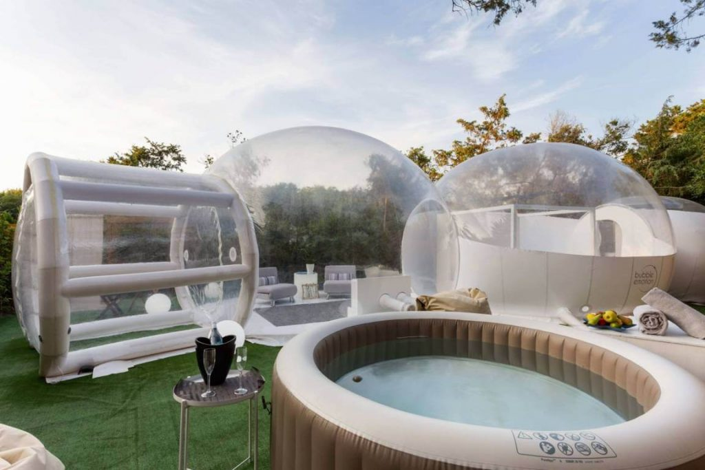 glamping in italia, bubble suite virgo