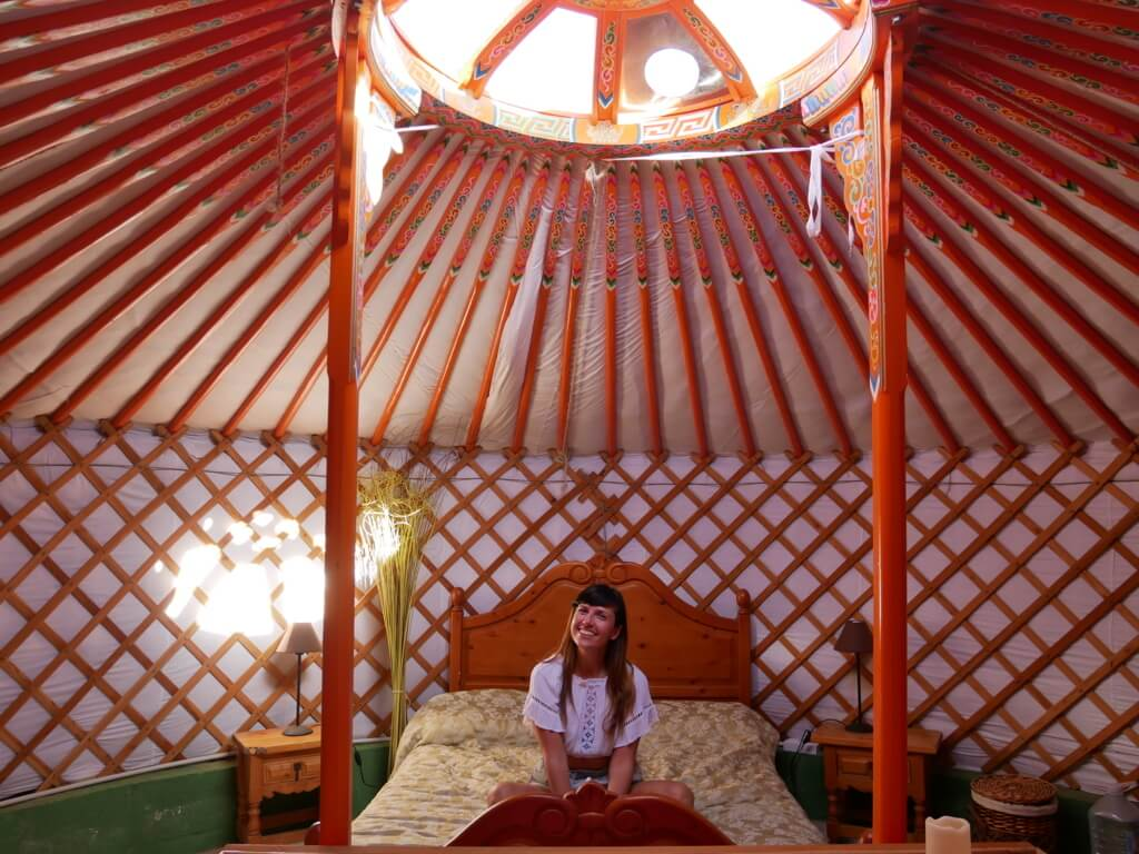 glamping in italia, yurta