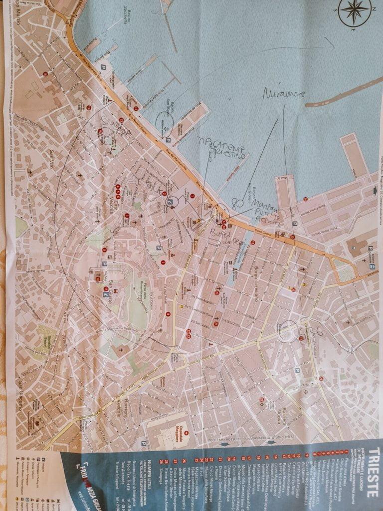 Cosa vedere a Trieste, mappa del centro