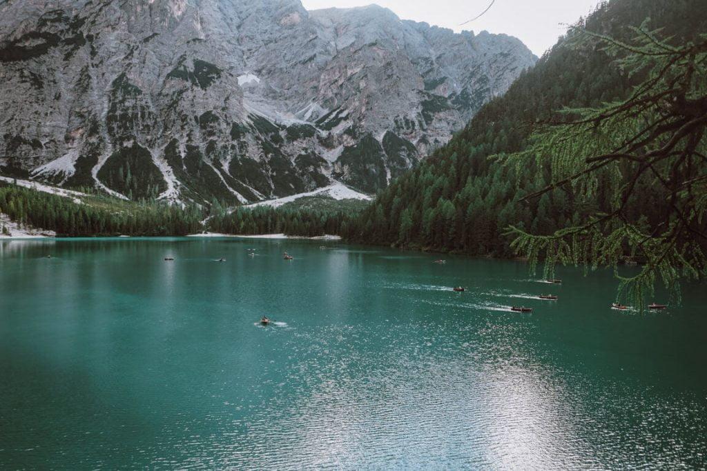 Cose da fare al lago di braies, vista dall'alto