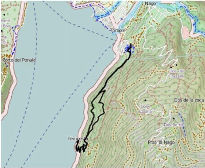 Sentiero Busatte Tempesta, mappa